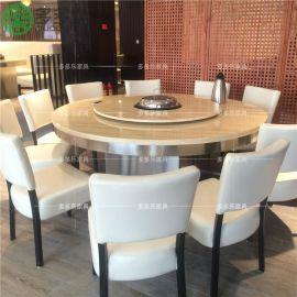 深圳电磁炉火锅桌餐桌椅 大理石火锅桌椅定做