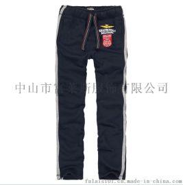 秋冬季外贸休闲卫裤男装裤子服装定做加工厂服装定制