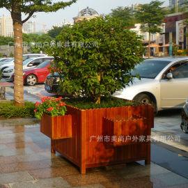 花箱厂家专业定制户外实木花箱,塑木花箱,玻璃钢花箱