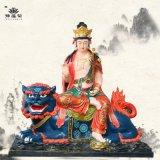 文殊菩萨佛像骑兽文殊曼殊是妙之意神像豫莲花雕塑
