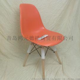 厂家定制伊姆斯椅 北欧简约风餐椅 塑料休闲椅