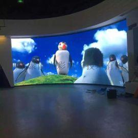 聚能光彩西安室内P4全彩显示屏价格和安装效果