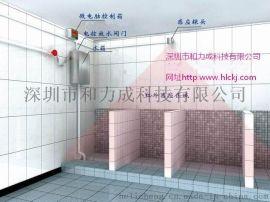 学校用大便坑槽感应冲水器自动落水箱
