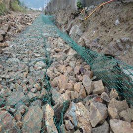 新疆铁丝网包塑编织五绞生态固滨笼 金属线镀锌格宾垫 格宾石笼防护网
