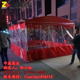 工厂大型加固仓库帐篷户外工地物流车库移动推拉雨棚伸缩雨篷