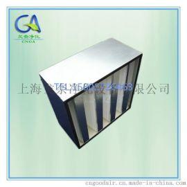H14V型大风量组合式HEPA高效过滤器 镀锌框密折式高效滤网
