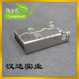 USB数据接口 AM沉板式 A公90度/立式