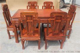 卓瑞红木 红木实木明式古典如意餐台 红木餐台饭桌会客餐桌