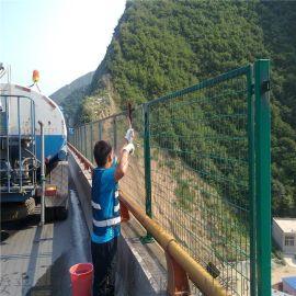 浸塑桥梁防护网,高速公路防抛网,桥梁防抛网