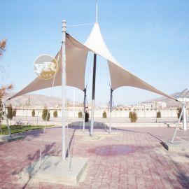 张拉膜结构景观蓬造型设计景观棚膜结构景观城市工程
