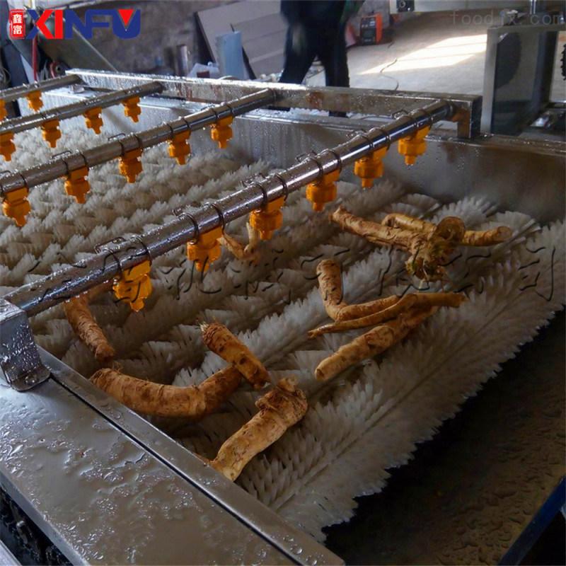 鑫富供应  海蛎子毛辊清洗机  蛤喇清洗机