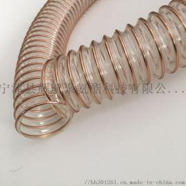 扬中pu聚氨酯钢丝软管A生物颗粒厂吸热气软管厂家
