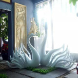 楼盘装饰玻璃钢鹿雕塑 工艺流程 清远玻璃钢马雕塑