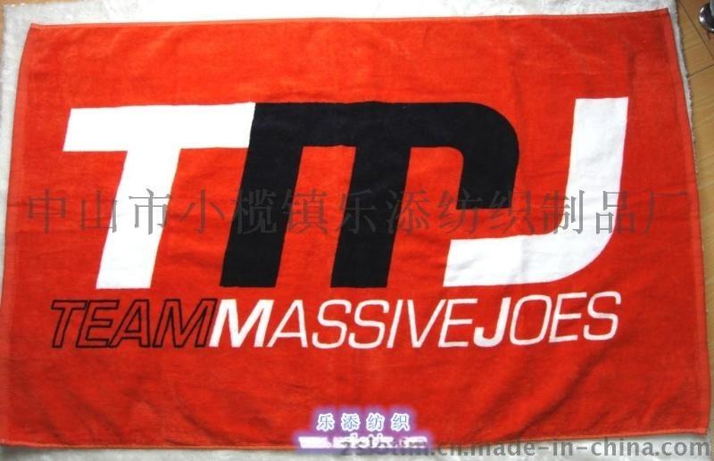 厂家直供订制广告促销赠品纯棉活性印花割绒运动毛巾