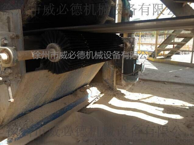 炼油厂带式输送机电动旋转滚刷皮带清扫器