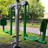 长沙市奥晟体育小区户外健身路径安装