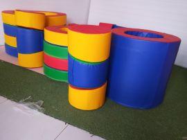 兒童體適能感統訓練彩虹接龍19件套幼兒園訓練教具