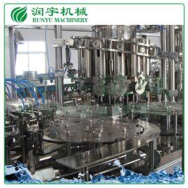 润宇机械直销玻璃瓶铝制盖灌装机,酵素生产线酵素灌装机