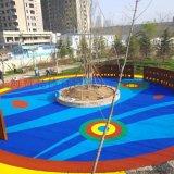藍色塑膠跑道 幼兒園地墊 彩色透水混凝土