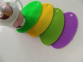 **创意硅胶西餐垫隔热防滑桌垫耐磨耐高温锅垫 防水杯垫