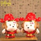 淘工厂 招财猴公仔定做 财神猴玩偶代工 春节吉祥物生肖礼品加工