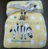 2015夏季新款 珊瑚絨繡花嬰兒毛毯批發嬰兒毛毯 嬰兒毛毯批發 新生兒寶寶抱被 法蘭絨空調蓋毯