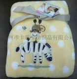 2015夏季新款 珊瑚绒绣花婴儿毛毯批发婴儿毛毯 婴儿毛毯批发 新生儿宝宝抱被 法兰绒空调盖毯