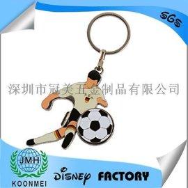世界杯足球金属钥匙扣定做美国队长钥匙扣钥匙链定制加工