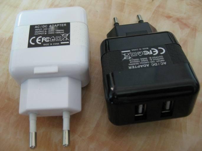 ASIA908CE認證5V3.1A雙USB充電器 3100mA牆壁充電器 USB AC adapter