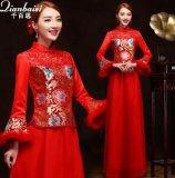 蘇州冬款新娘旗袍批發冬季結婚旗袍廠家