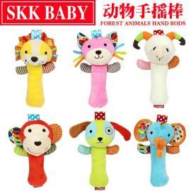 SKK BABY母嬰玩具BB棒嬰兒發聲玩具毛絨手搖鈴嬰幼教具廠家批發