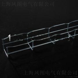 50*50mm电镀锌网格桥架 机房强弱电走线架 开放式金属筛网桥架
