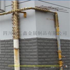 管道防爬刺防爬钉围墙防盗刺不锈钢刀片防护网
