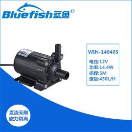 蓝鱼直流无刷水陆两用增压泵假山鱼池抽水泵
