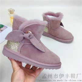 2019新款羊皮毛一体保暖儿童羊毛鞋