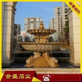 大型广场石材喷泉 石材水钵 花岗岩喷水池