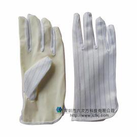 防靜電檢查手套作業防護手套防靜電無硫手套黃膠PU掌部塗層抗靜電
