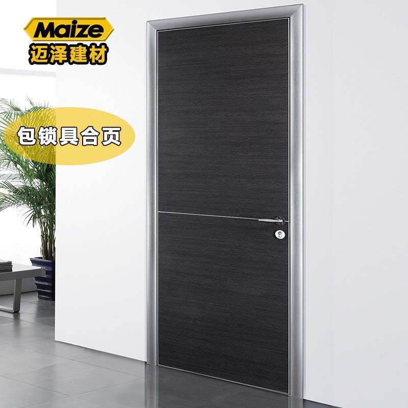 厂家直销铝合金生态门室内门套装门 卧室门免漆生态板防水厨房门