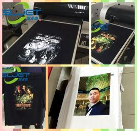 深龙杰2017款A2幅面服装打印机个性定制T恤数码印刷机