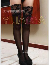 依莲娜正品时尚新款性感14公分花边长统包芯丝袜