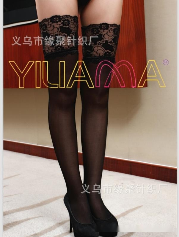 依蓮娜正品時尚新款性感14公分花邊長統包芯絲襪
