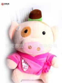 定做毛絨豬公仔 豬毛絨玩具 嬰兒玩具穿衣服穿裙子卡通豬訂製