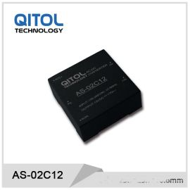 2W电源模块AS-02C05气体控制器模块电源5V直流电源模块25.4*25.4mm