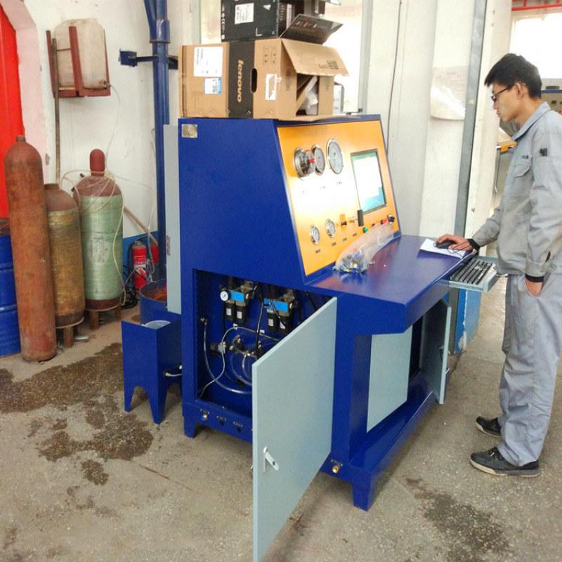 無縫鋼瓶外測法水壓試驗機 SY-W4水壓試驗機