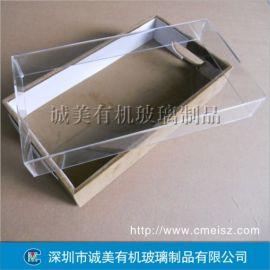 饰品透明展示盒 有机玻璃防尘盒 亚克力产品天地盖