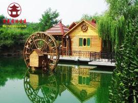 四川水车厂家,田园实木水车设计定制