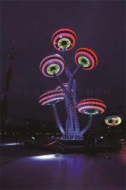 不锈钢户外照明雕塑灯 恒逸雕塑灯 景观灯雕塑灯