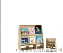 海基伦白木蜡**书架幼儿园**放置书架儿童收纳书架厂家直销