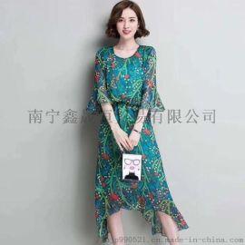 19年武汉大码夏季新款连衣裙品牌女装专柜**尾货
