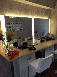 定制美容院美容镜LED灯镜壁挂式LED化妆镜美发镜